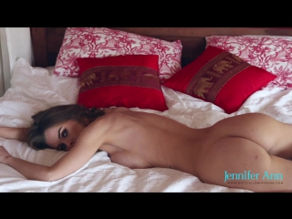 Jennifer Ann handjob in bed