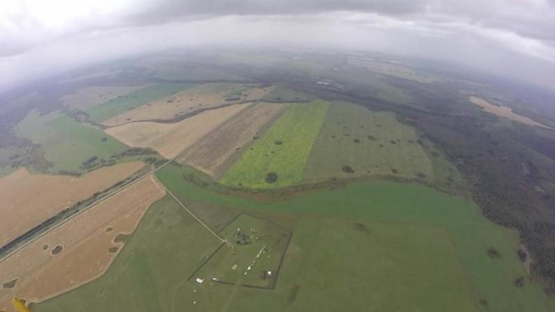 Прыжки с парашютом с Ан-2 Сильный ветер и небольшой дождь Мой парашют планирующий парашют-крыло Лесник-3 Высота 1300 метров