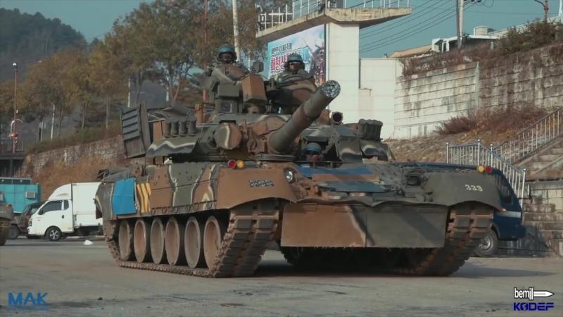 육군 3기갑여단 러시아제 T-80U 전차 도하훈련 현장 최초공개