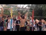 street workout - подтягивания с весом 32 кг на турнике