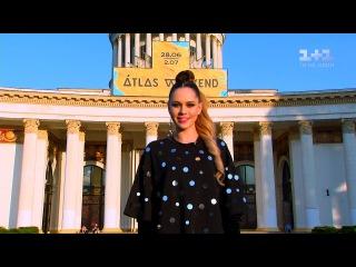Юлія Саніна - світський репортер на Atlas Weekend
