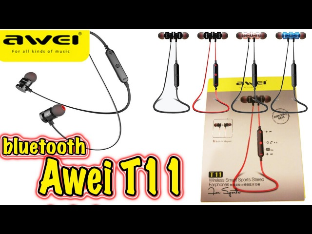 Awei t11 bluetooth наушники за 11$
