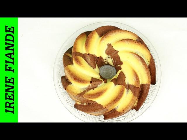 Мраморный кекс простой и всеми любимый!