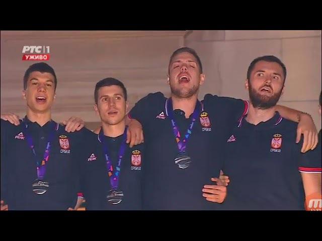 Svečani docek košarkaša Srbije ispred Starog dvora
