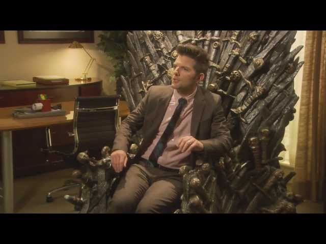 Parks and Recreation - Iron Throne scene (Extended version)