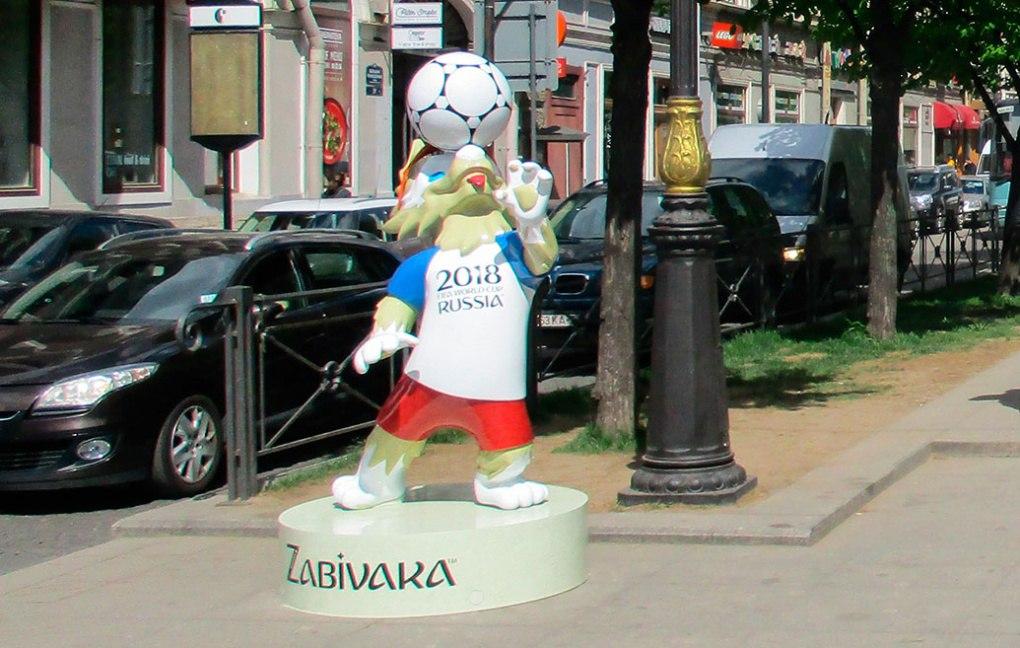 Фигура Забиваки, установленная на Невском проспекте, источник фото