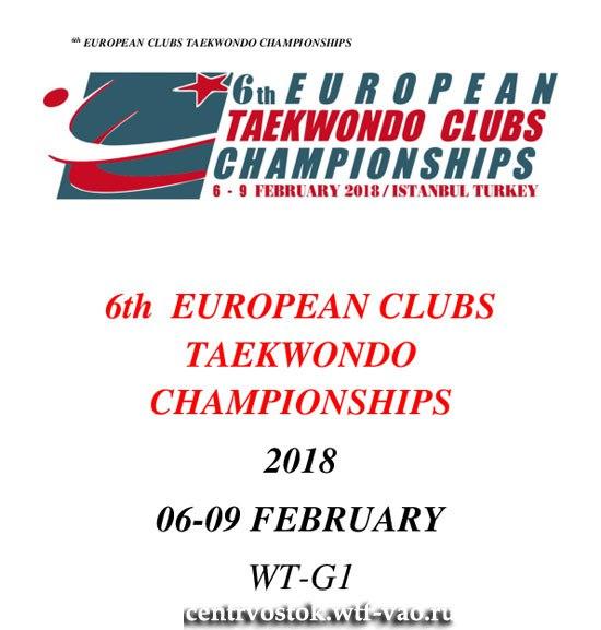 European Clubs Taekwondo 2018