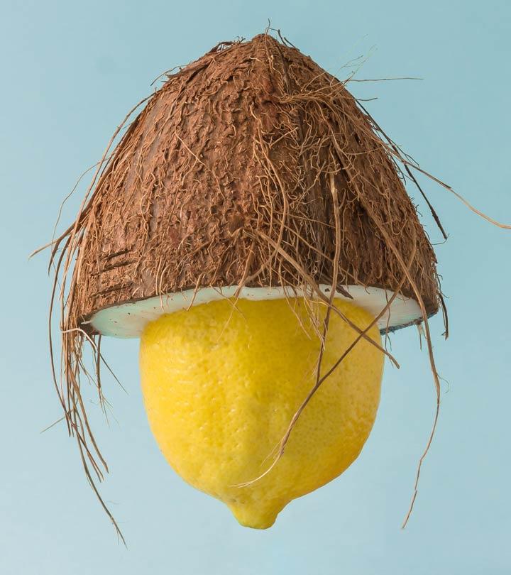 Кокосовое масло и лимон для волос