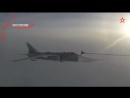 Дозаправка Су-24 в воздухе. Вид из кабины бомбардировщика и сопровождающего его МиГ-31