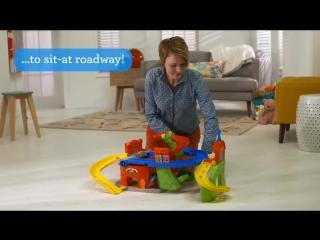 Автотрек небоскрёб smyths toys - little people sit 'n stand skyway play set