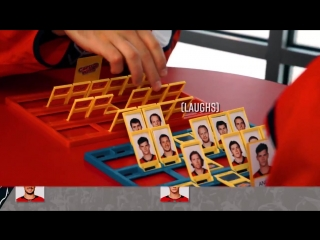 John Carlson and TJ Oshie FACE OFF in a game of Guess Who