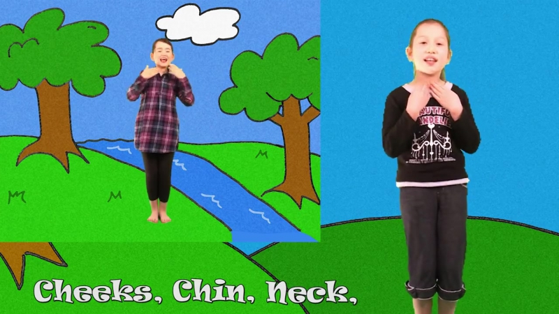 Cheeks Chin Neck and Bum _ Learn Body Parts Song for Kids