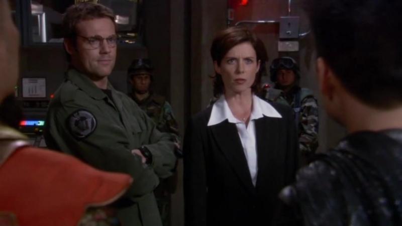 Звездные врата: Первый отряд  1-2 серия 8 сезона  Элизабет Вейр 16 сцена