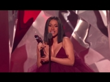 Cardi B  2018 iHeartRadio Music Awards ¦ Acceptance Speech ¦ TBS