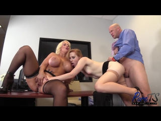 Alura Jenson, Shiri - boss wife share their TS secretary (01.11.2017)_720p