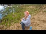 Рыбачка Полина как -то в мае... Май 2014 г. г. Сертолово. СПБ.
