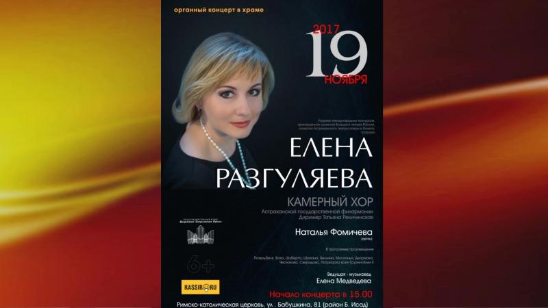 Афиша концерта Елены Разгуляевой