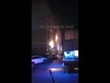 27.11.17 Южная 25 жилой дом горит, пожарной нет беспрепятственного подъезда