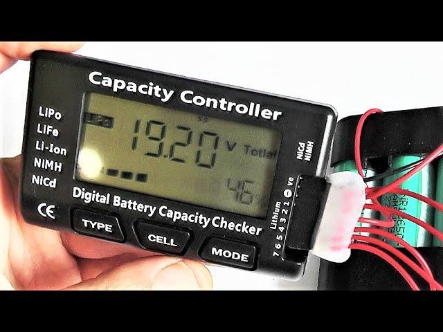 Индикатор и балансир литиевых аккумуляторов. Подключение и тест Battery Checker LiPo LiFe Li...