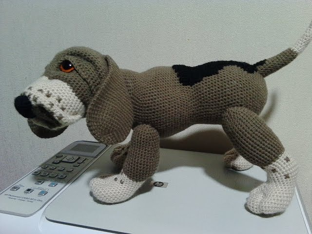 Собака Бигль, ч.1. Dog Beagle, р.1. Amigurumi dog. Амигуруми собака.
