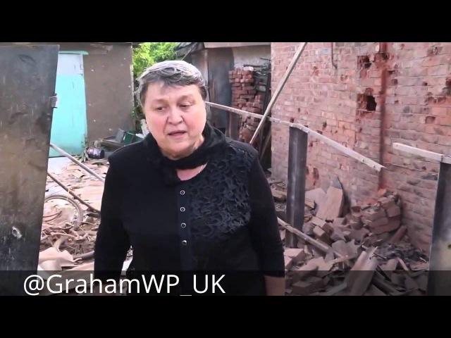КРИК МАТЕРИ 'Пусть они будут прокляты украинские фашисты ' Горловка 27 05 2015
