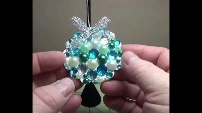 DIY~Beautiful Paper Jewel Christmas Ornament!