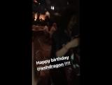 Инстаграм Stories Николь Коган Нина Добрев на Дне Рождения Эш Дрэгон в Лос-Анджелесе 3 июля 2017 года.