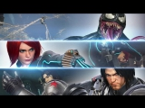 Marvel vs. Capcom Infinite  Winter Soldier, Black Widow and Venom Gameplay  PS4