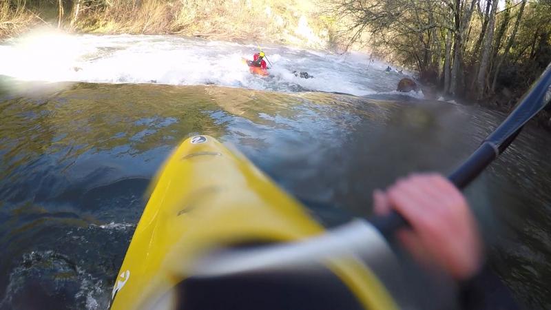Верхняя секция р Деза Галисия 2018 New year kayak trip