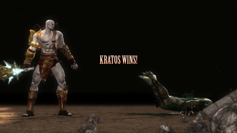 Mortal Kombat 9- Kratos Blade of Olympus Fatality on All Characters