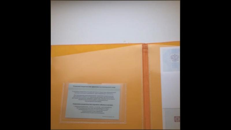 Папочка для детских документов