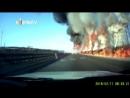 Autopista china se convierte en un infierno de fuego por un derrame de gas
