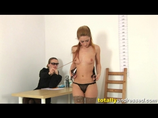 Marina [totallyundressed] [medical fetish, posing, submission, stockings, casting, domination, masturbation, anal beads]