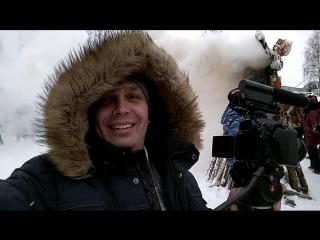 18 февраля 2018 снимаю Масленицу в Русиново, Красное-на-Волге