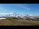 Панорама большого Кавказского хребта и горы Эльбрус