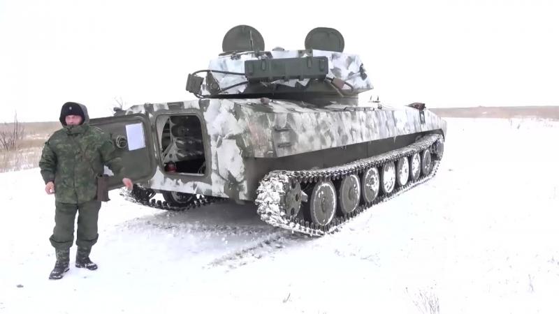 САУ 2С1 Гвоздика. Ведущая стреляет из артиллерии. 22.02.2018, В казарме