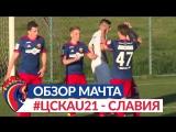 Обзор матча: ПФК ЦСКА (мол.) — Славия — 2:1