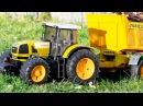 Traktor Pracowity Traktorek z Przyczepa Żniwa i Praca Maszyny Rolnicze Auta Bajki dla dzieci