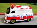 Скорая помощь и Полицейская машина Мультфильмы для детей Спасательные Машинки ...