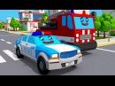 Мультфильмы для детей - Пожарная Машина и Полицейская Машина в городке 3D Мультик...