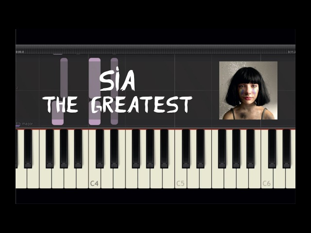 Sia - The Greatest - Piano Tutorial by Amadeus (Synthesia)