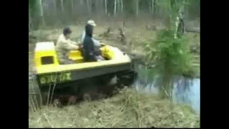 Russian track-type ATV Viking in a morass