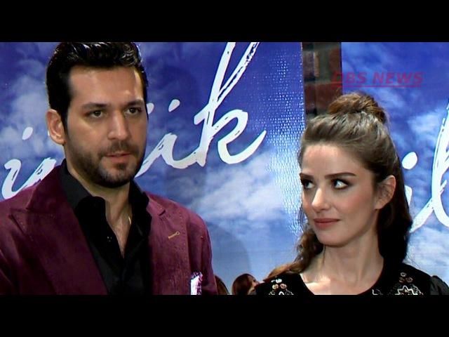 Мурат Йылдырым и Озге Гюрель пресс конференция фильма Первый поцелуй