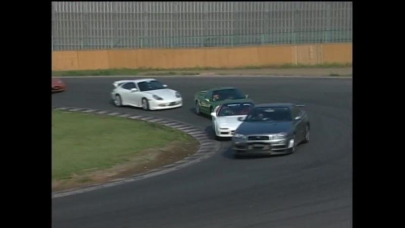 ベストモータリング NA2 NSX-R 筑波バトル (NSX-R vs R34 ,NSX, PorscheGT3 )