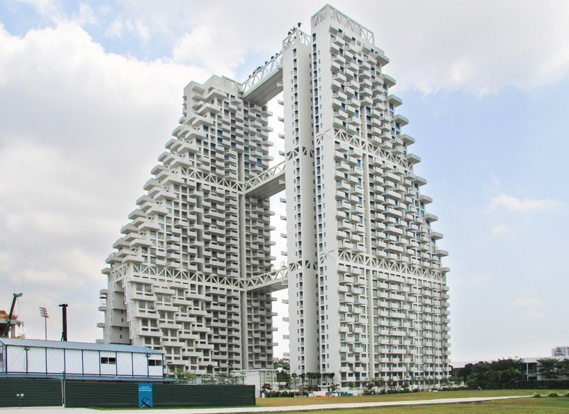 moshe safdie's sky habitat nears completion in singapore