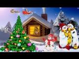 Футаж с Новым 2018 годом-футажи для видеомонтажа-Снеговик