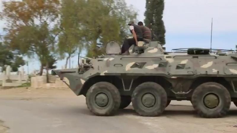 БТР-80, найденный в бывшем пункте базирования российской военной полиции в Кафр-Джанна