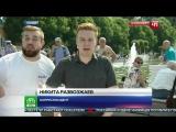 Быдло ВДВшник ударил журналиста НТВ