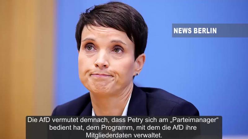 Klau von Mitgliederdaten - AfD will Frauke Petry verklagen