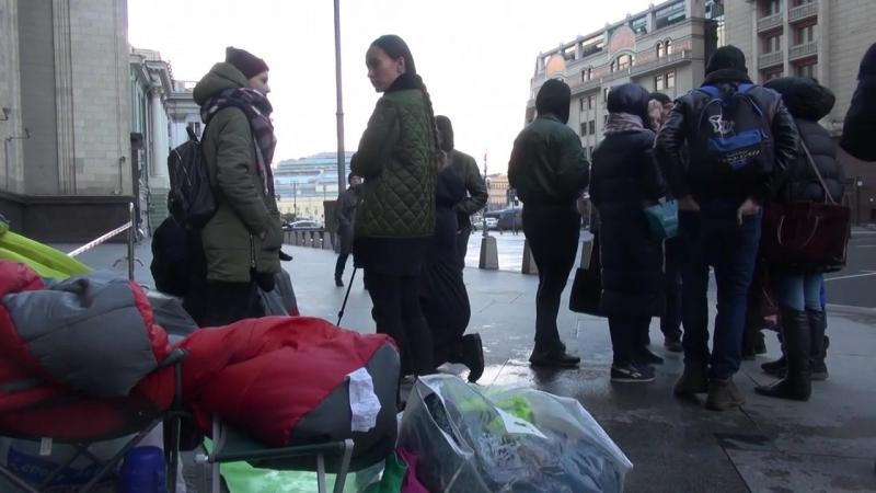 Зоозащитники проводят голодовку возле Госдумы (Юра Корецких и Вера Павлова)